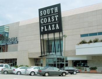 South Coast Plaza Mall California