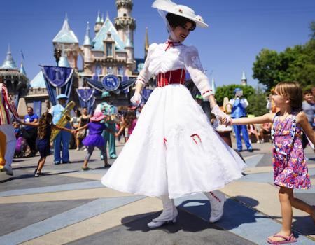 Mary Poppins at Disneyland California