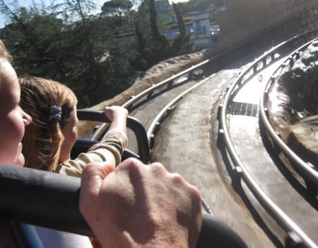 Rollercoaster at Disneyland California