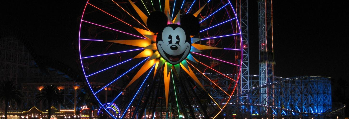 Mickey Mouse Ferris Wheel Disneyland California