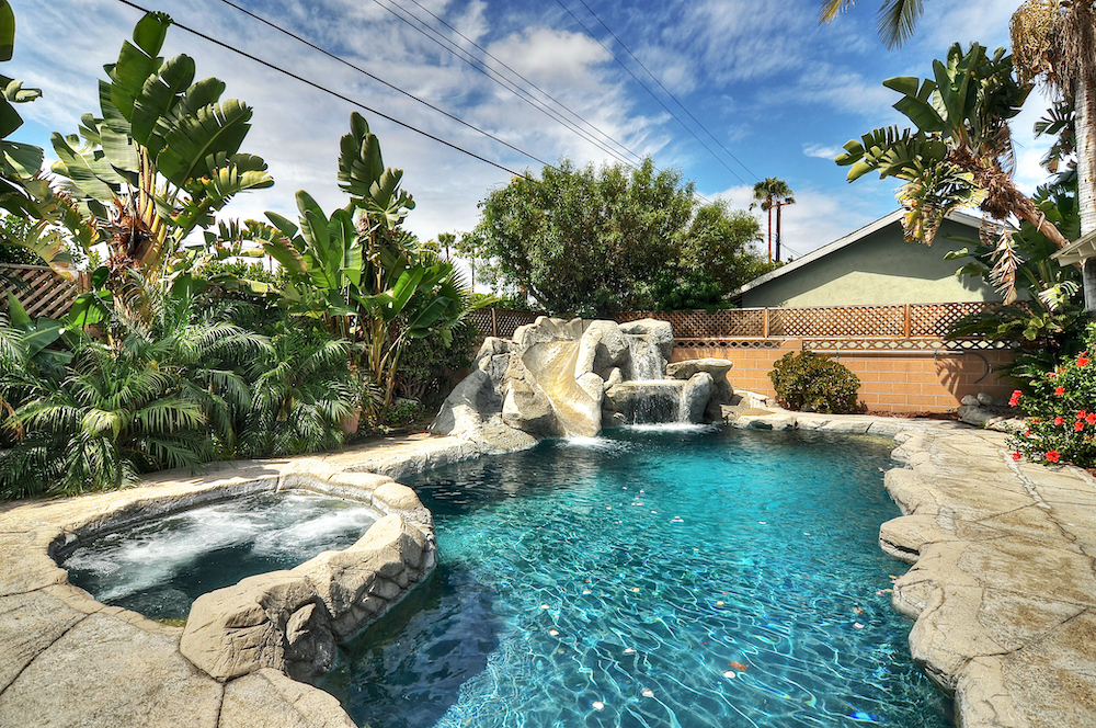 large vacation home with private pool in anaheim